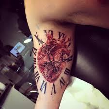 clock tattoo on hand realistic heart tattoo with roman clock tattoo u0027s pinterest
