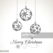 hand drawn christmas ornaments vector art getty images