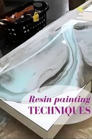 used ceramic pouring table resin painting techniques learn how to use several colors to dirty