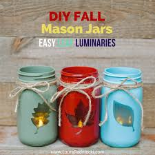 reversible 2 in 1 diy fall jars easy leaf luminary jar craft