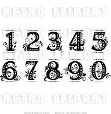 vintage martini clipart old cursive numbers fancy numbers clip art drawing ideas