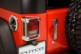 Jeep Jk Tail Light Covers Putco 400893 Tail Light Covers In Chrome For 07 17 Jeep Wrangler