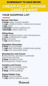 cream filled sponge cakes 4 ways recipe tastemade
