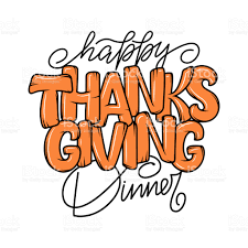 thanksgiving typography poster celebration lettering