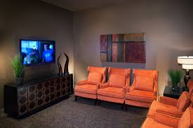red lobby interior design firm