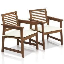 Patio Furniture Langley Langley Street Arianna Teak Hardwood Outdoor Chair With Cushion