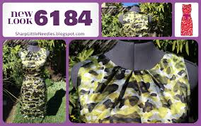 pattern review new look 6184 sharp little needles finished project new look 6184 silky camo