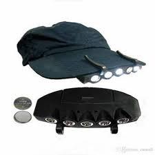 best hat clip light new black cing fishing clip hat cap light l headl 5 leds