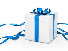 gift box with ribbon white gift box with blue ribbon photo free