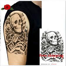 product fashion waterproof skull tatoo stickers angry