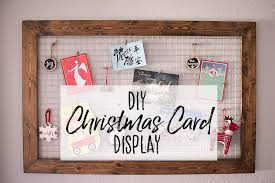 christmas card display holder diy chicken wire christmas card holder our handcrafted