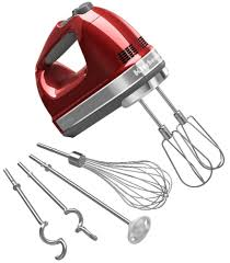 Kitchenaid Mixer Attachments Amazon by Amazon Com Kitchenaid Khm920a 9 Speed Hand Mixer Candy Apple Red