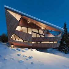 Modern House In Country Metal Glass And Wood Homes In Snow Modern House Designs