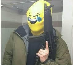 Smiling Crying Face Meme - gun crying laughing emoji know your meme