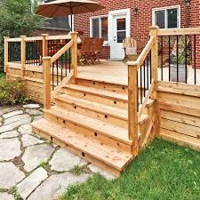 bloc marche escalier exterieur fabriquer un escalier de patio en étapes jardinage et