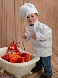 Lobster Costume Chef And Lobster Halloween Costume