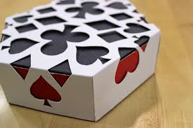 suit die dice and card packaging on