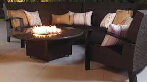 Indoor Outdoor Furniture by Fireplace Chic Table Fireplace Design By Frontgate Outdoor