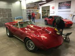 candy apple red corvette paint job looking good collision paint