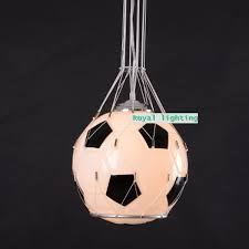 soccer ball children room glass light pendnat lamps football kid u0027s