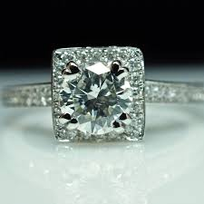 size 6 engagement ring sale halo engagement ring wedding band set 14k white