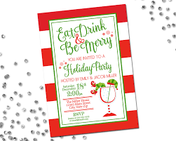 christmas cocktail party invitations eat drink be merry holiday party invitation holiday cocktail