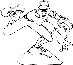 Baseball Coloring Pages To Print free printable baseball coloring pages for best coloring