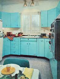 Turquoise Cabinets Kitchen Chronically Vintage Delightfully Pretty 1950s Turquoise Kitchen