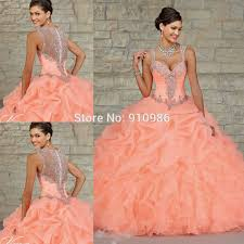 quinceanera dresses coral quinceanera dresses neon coral images 15 neon