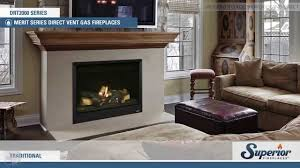 superior drt2000 direct vent gas fireplace youtube
