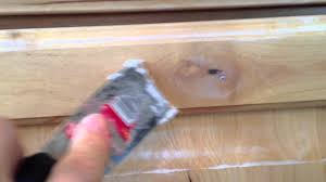how to paint kitchen cabinets step 2 filling knots youtube