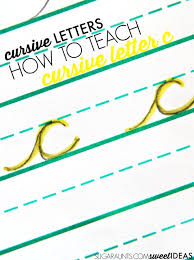 how to make letter c in cursive the ot toolbox