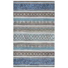 Blue Striped Area Rugs Rizzy Home Bradberry Downs Blue Striped 3 Ft X 5 Ft Area Rug