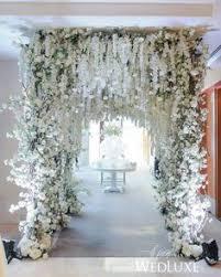 wedding entrance backdrop 12 ivory wisteria hanging flower garland for wedding backdrops