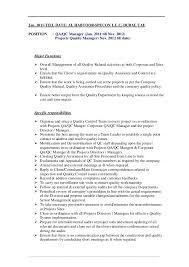 Quality Control Manager Resume Sample by Qc Manager Resume Contegri Com