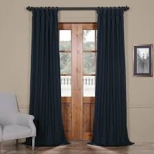 Exclusive Curtain Fabrics Designs Exclusive Fabrics Solid Cotton True Blackout Curtain Panel Free