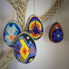beaded egg ornaments for magical decoration