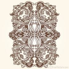 floral ornament vector free by 123freevectors on deviantart