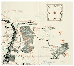 Map Of Mordor A Never Before Seen Map Of Middle Earth Has Just Been Found Jrr
