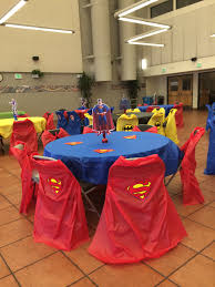 used chair covers table i used plastic covers and made capes for the