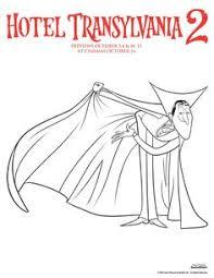 hotel transylvania coloring movie night hotel