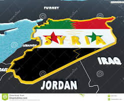 Map Of Syria And Surrounding Countries by Map Of Syria Divided With Government And Rebel Flags With