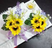 sunflower corsage buy yellow wrist corsage and get free shipping on aliexpress