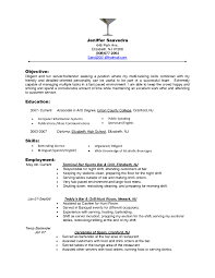 General Objective For Resume Examples by Server Objective Resume Samples