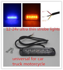 led strobe lights for motorcycles 50 x 7 5w extra thin led warning light car grill trailer light