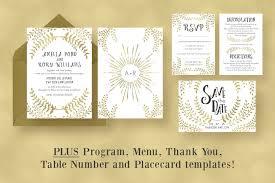 gold wedding programs 90 gorgeous wedding invitation templates design shack