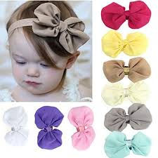 headband elastic susenstone 9pcs babys chiffon flower elastic headband