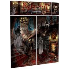 mega pack halloween sinister surgery asylum zombie scene setter gothic halloween haunted house mansion party scene setter wall decorating kit