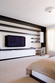 ContemporarybedroomWallUnits Modern Wall TV Unit In Master - Design wall units