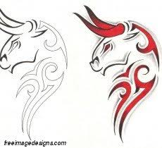 tribal bull heads free image tattoo design download free image